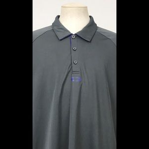 Oakley Gray Regular Fit Golf Polo XLarge